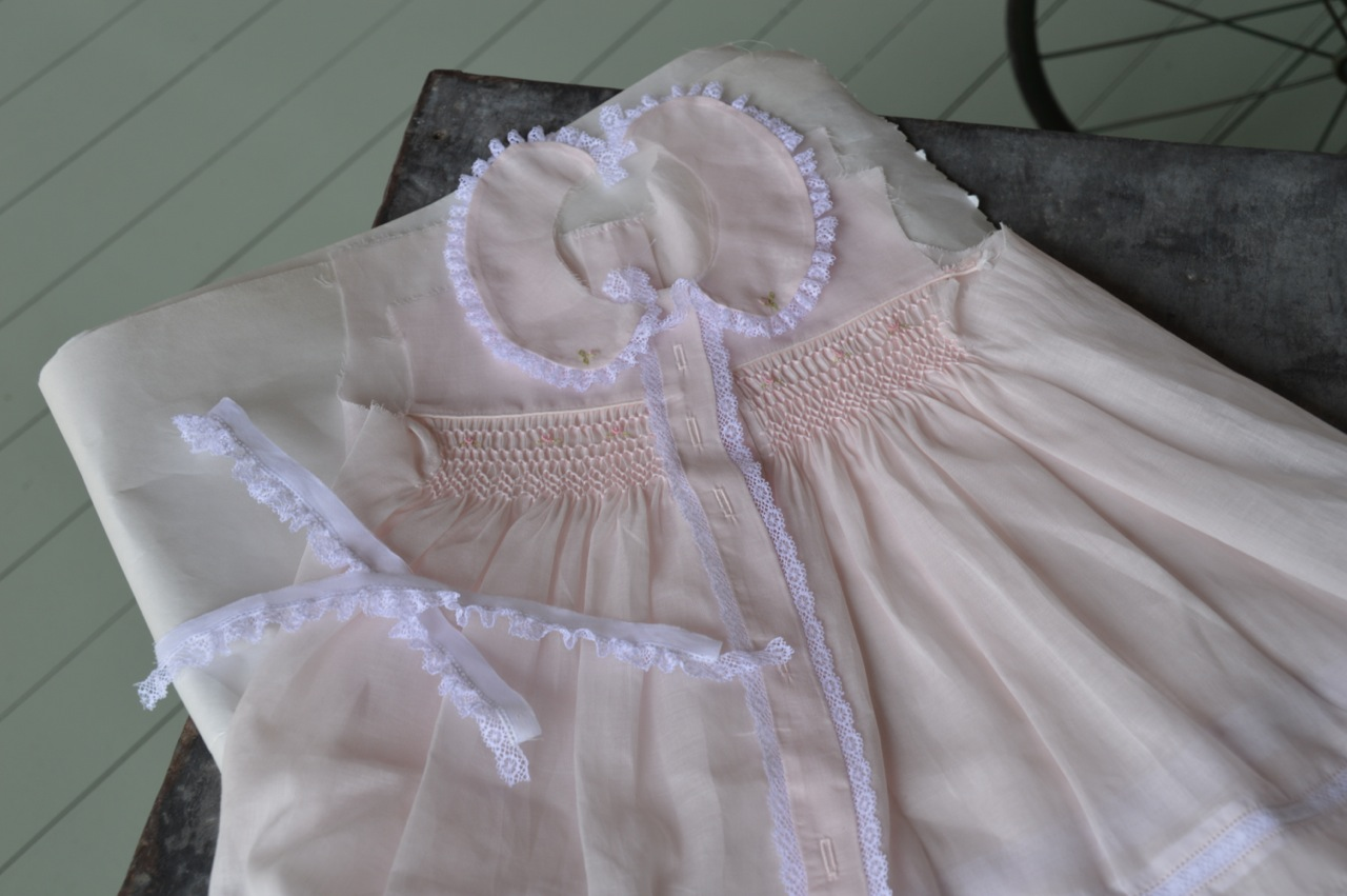 The Old Fashioned Baby Sewing Room Featuring Smocked Baby