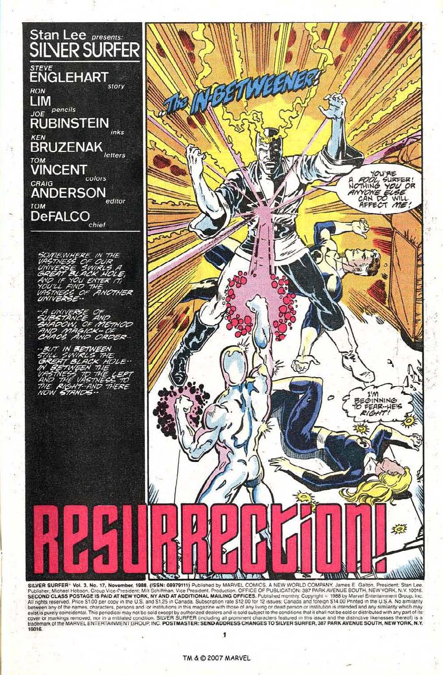 Read online Silver Surfer (1987) comic -  Issue #17 - 3