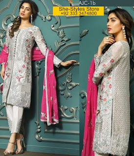 Asim Jofa Mysorie Chiffon Eid Collection 2017-18