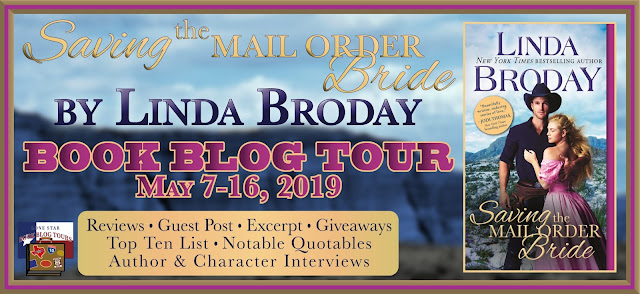 Saving the Mail Order Bride book blog tour promotion banner