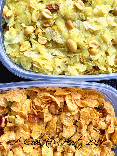 Corn Flakes Chivda, Indian trail mix