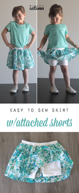 Diy Sewing Skirts With Shorts Attached