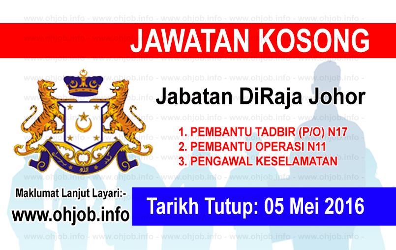 Jawatan Kerja Kosong Jabatan DiRaja Johor logo www.ohjob.info mei 2016
