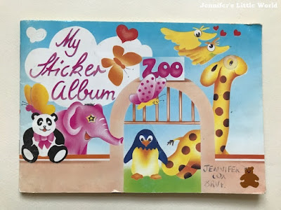 Vintage school sticker collection album