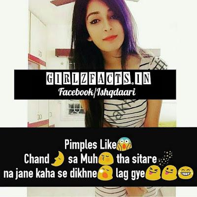 Pimples Like Chand sa Muh tha  Sitare na jaane kaha se dikhne lag gye