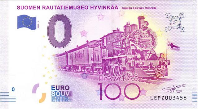 suomen ensimmäinen 0 euro seteli 2017