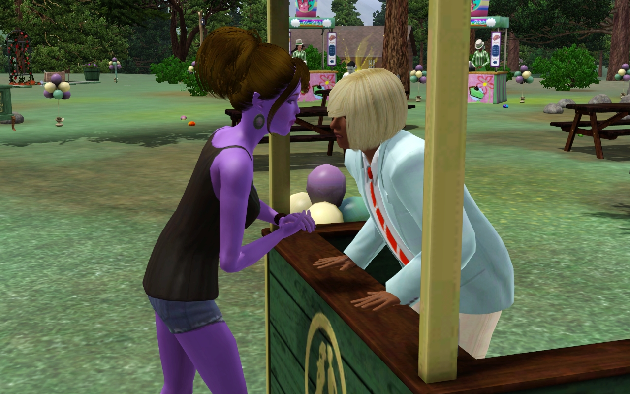 the kissing booth in sims freeplay