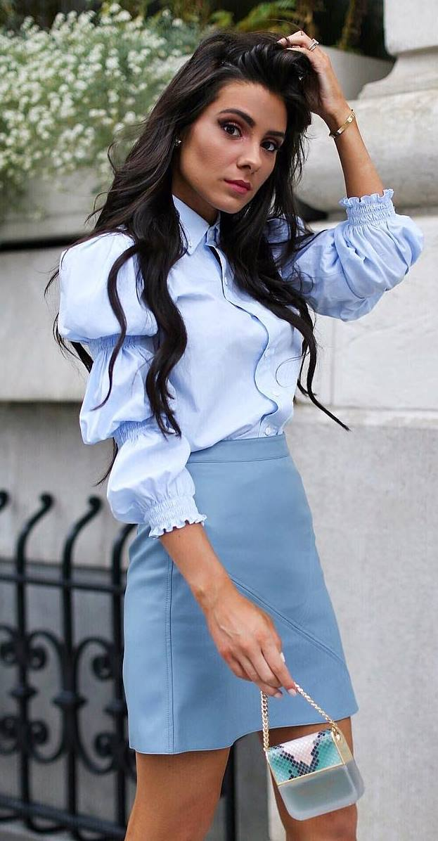 fashion trends | blouse + skirt + bag