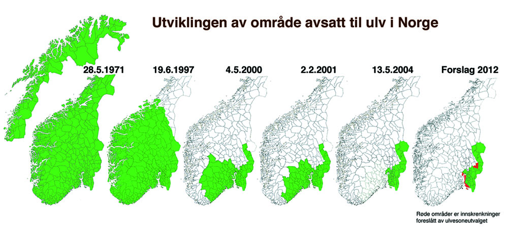 ulvesonen kart Tiurskogen: Ulvens leveområder i Norge ulvesonen kart