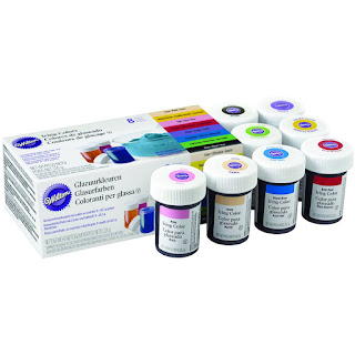 Set of 8 Wilton Concentrated Gel Food Colourings
