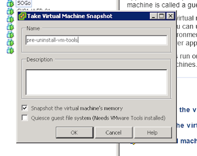 It's safe to take a snapshot before messing with vms :)