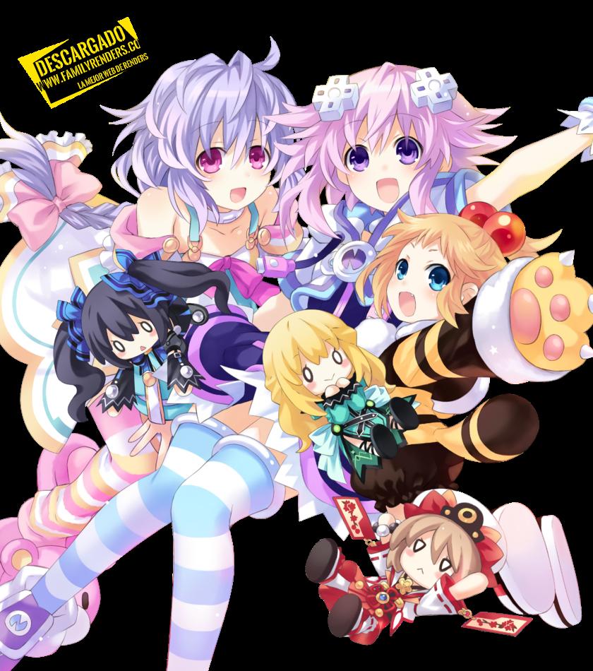 Neptune, Plutia, and Peashy Render