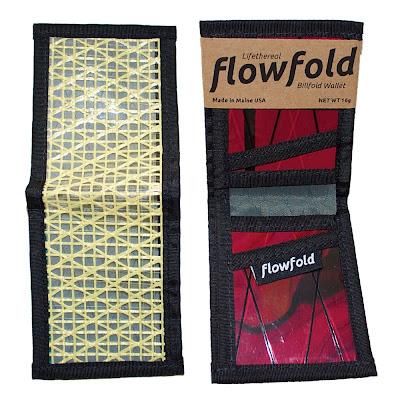 cartera resistente ligera billfold flowfold amarilla