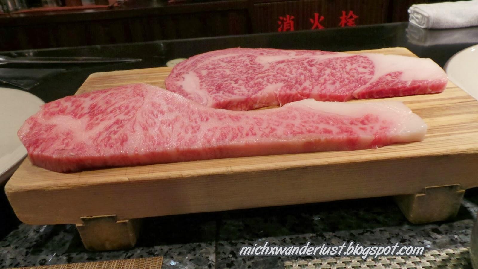 Kobe Beef at Royal Mouriya Restaurant in Kobe