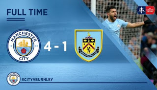 Manchester City Hajar Burnley 4-1 FA Cup