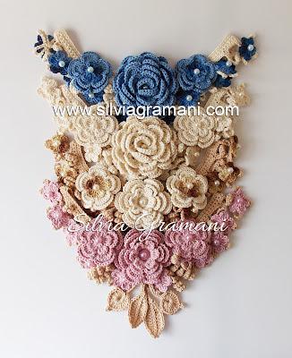 Jardim de Flores - Colares de Crochê