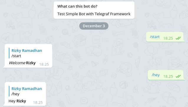Membuat Bot Telegram dengan Framework Telegraf Membuat Bot Telegram dengan Framework Telegraf