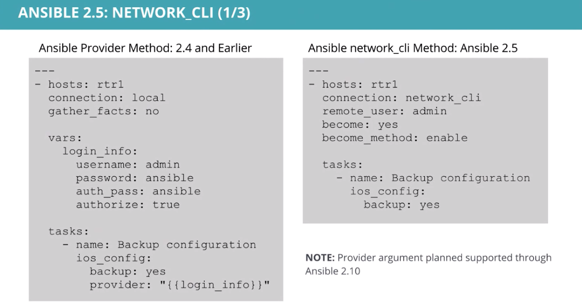 Network Automation Nerds: Ansible 2 5 on the Horizon