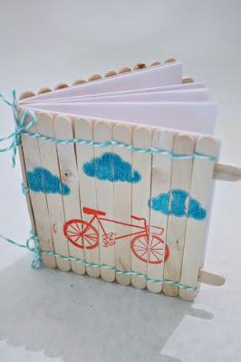 Block notes con stecchi legno