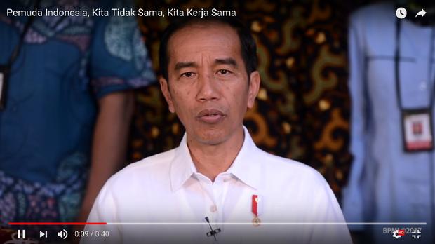 Presiden Jokowi: Pemuda Indonesia, Kita Tidak Sama, Kita Kerja Sama