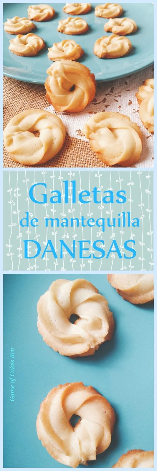Galletas de mantequilla tipo danesas, pastas de té