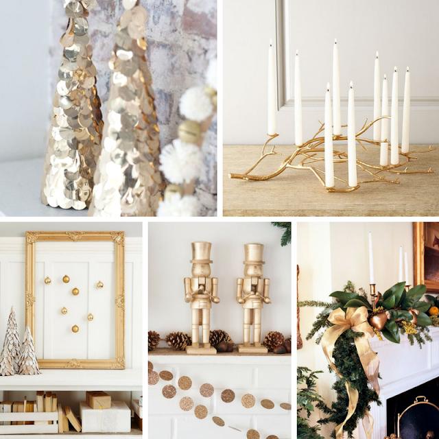 Decoração de Natal em Dourado