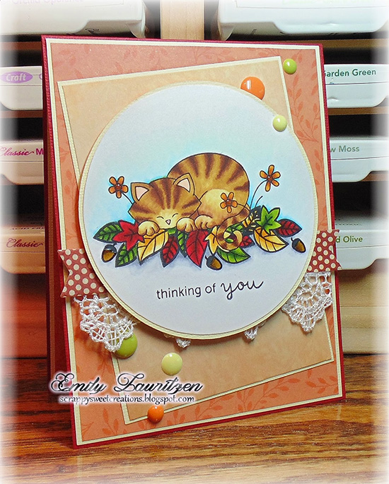 Fall Card for Newton's Nook Designs Inky Paws Challenge - Newton's daydream Stamp set