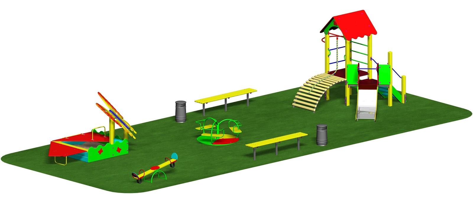 Игровое уличное оборудование для детских площадок в детском саду