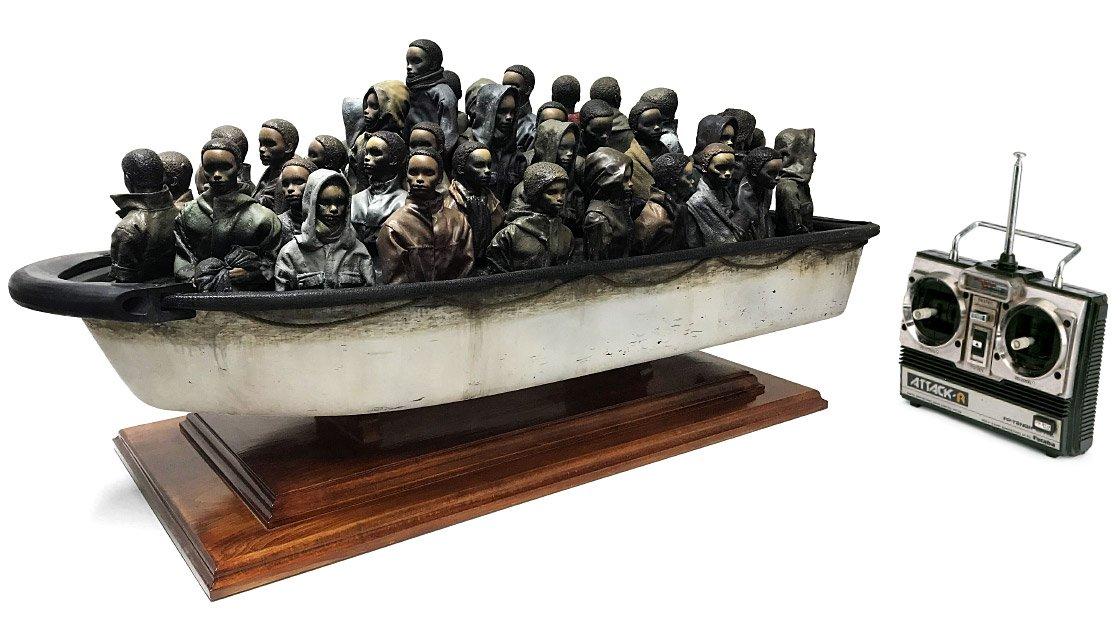 Banksy Boat Raffle | Ein echter Banksy für £2 und den richtigen Tipp | Choose Love Help Refugees