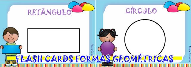 Flash Cards Formas Geométricas pra trabalho com massa de modelar