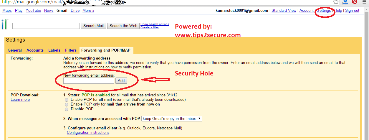 security holes in gmail