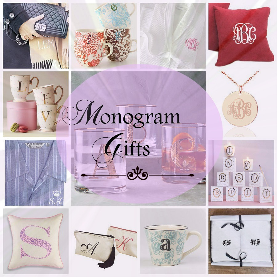 Monogram Gifts, Initial Gifts, Monogrammed,