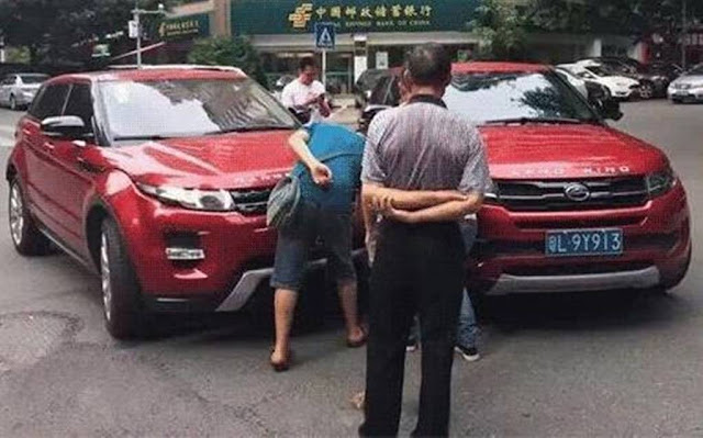 Landwind X7 x Range Rover Evoque - crash