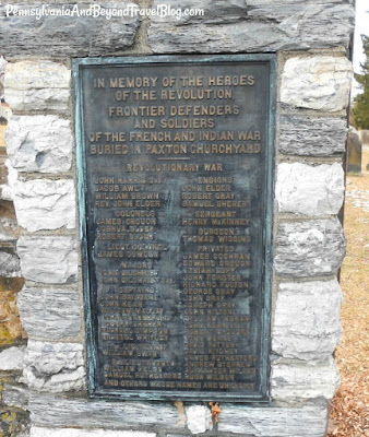 Paxton Church Cemetery Memorial French & Indian War Memorial Harrisburg Pennsylvania