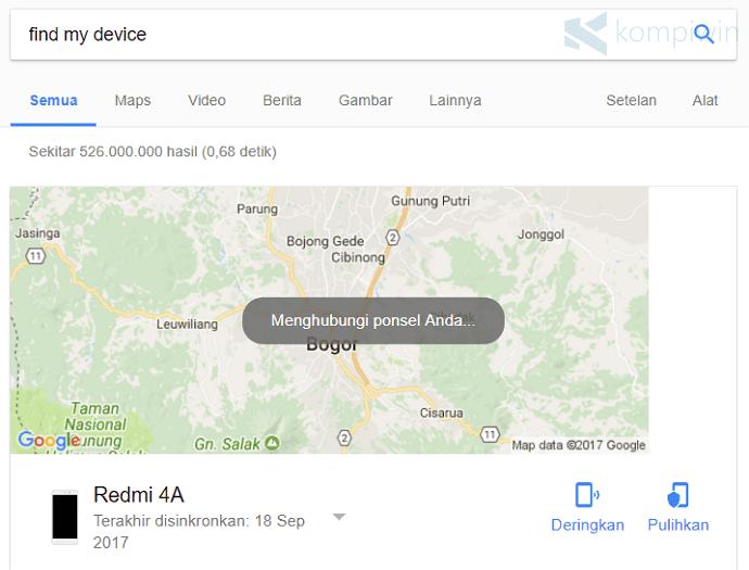 mencari hp android