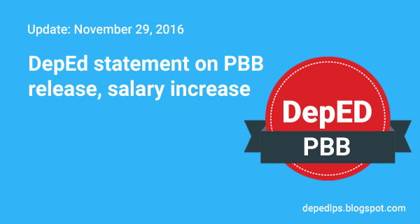 DepEd statement on PBB release, salary increase