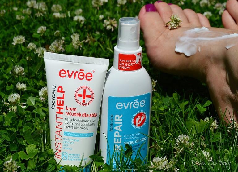 Evree Footcare Ekspresowo nawilżający spray oraz Krem ratunek dla stóp - recenzja
