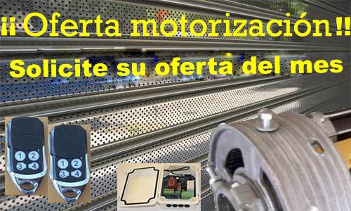 Oferta motorización persianas enrollables comercio