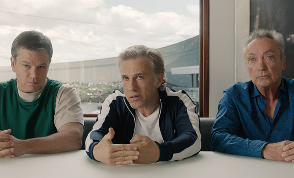 Matt Damon, Christoph Waltz and Udo Kier in DOWNSIZING (2017)