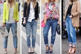 fotos e modelos de calça jeans feminina boyfriend