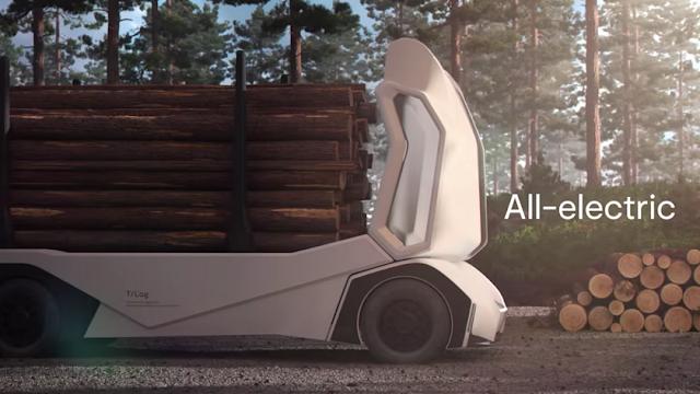 Электролесовоз Einride T-log с дистанционным управлением: что придумали шведы?