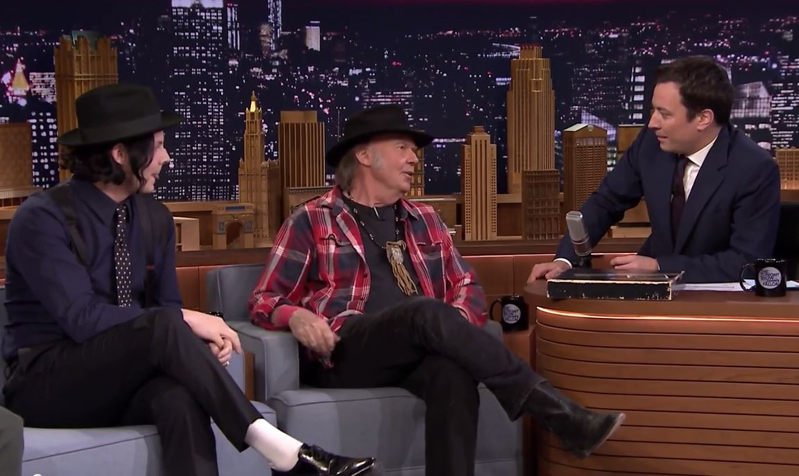 Jack White, Neil Young, Jimmy Fallon