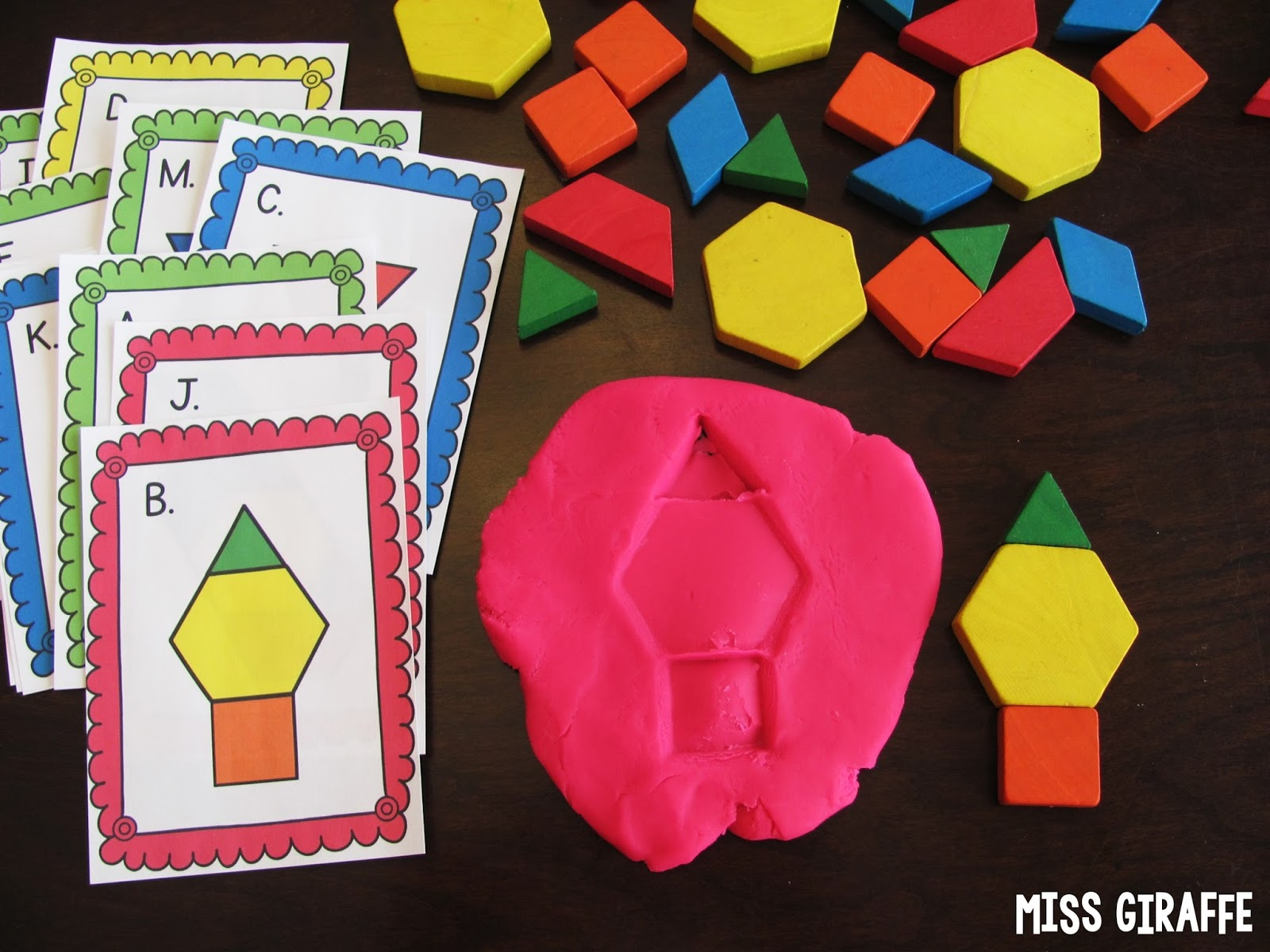 Miss Giraffes Class Composing Shapes in 1st Grade – Getting into Shapes Worksheet