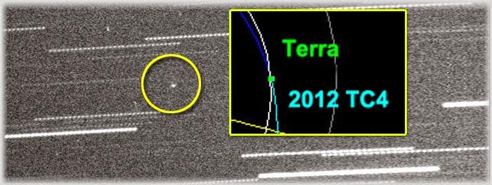 asteroide 2012 TC4 pode colidir com a Terra em 2017