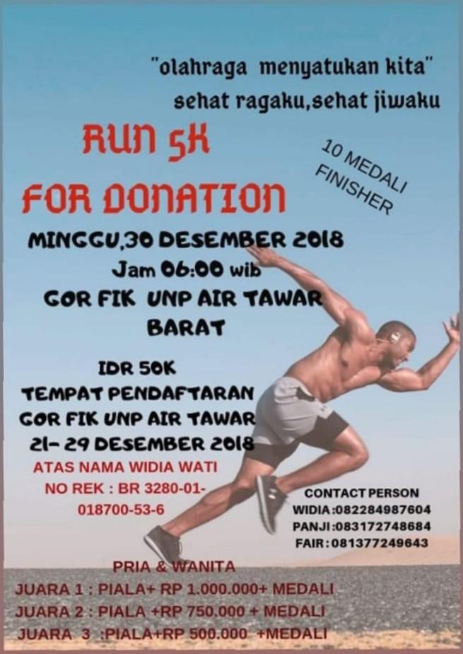 Run 5K for Donation • 2018