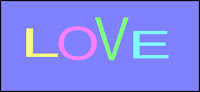 a graphic (c) Erika Grey of the word Love
