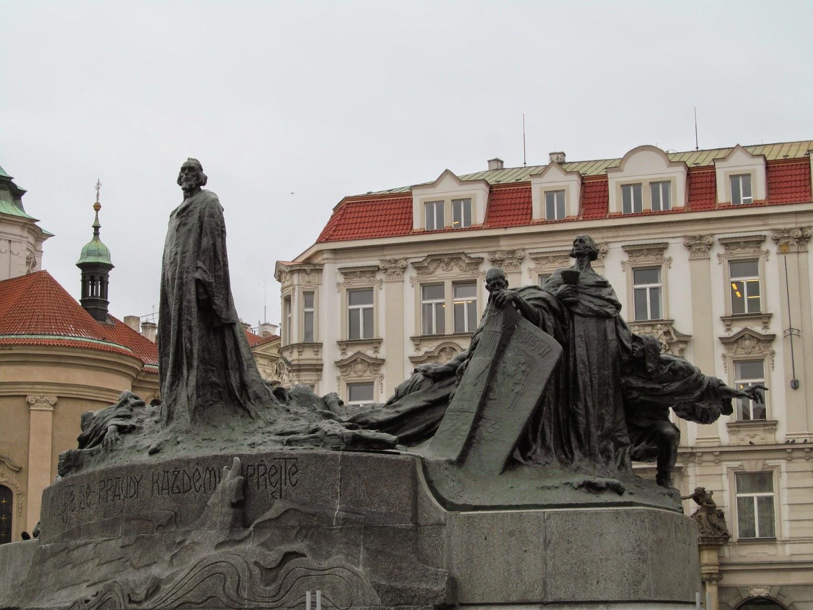 hussites statue prague