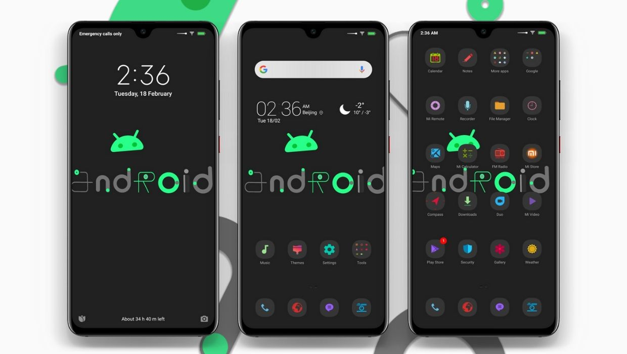 Android Grey MIUI Theme