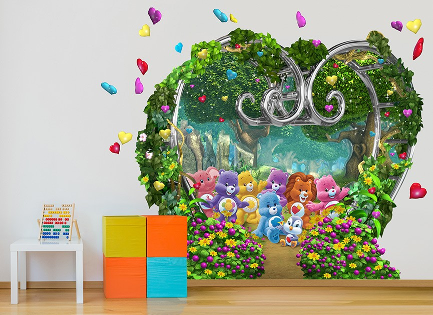 The mommy 39 s guide wall ah care bear wall decor for Care bears wall mural