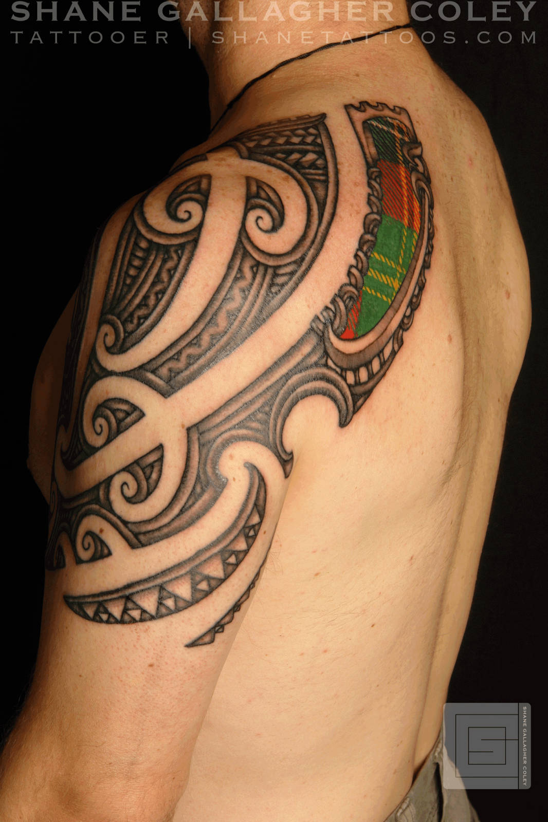 Maori Scottish Tattoo, Ta Moko #05981